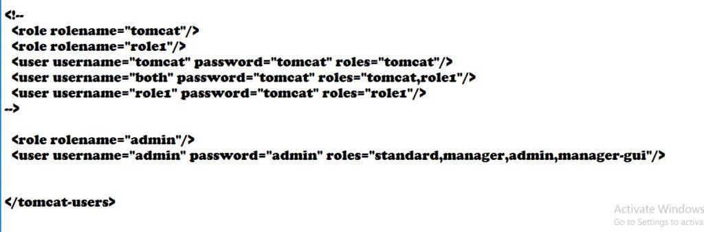 Creating user in tomcat