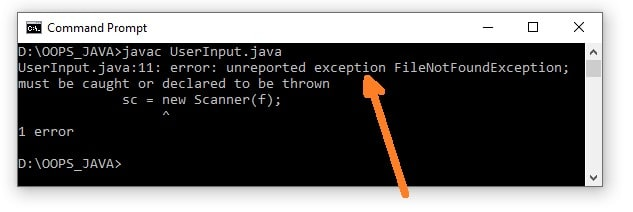 Checked Exception in Java