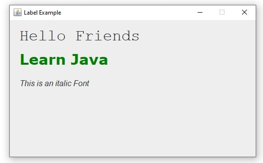 jlabel set font Example