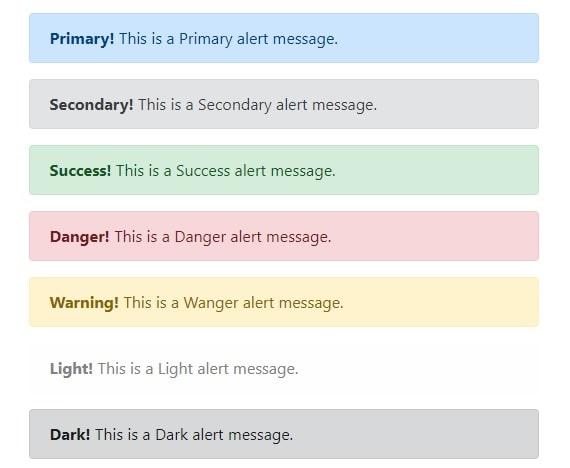 Bootstrap alert messages
