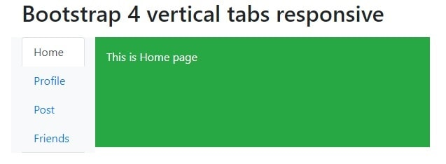 Bootstrap 4 vertical tabs responsive