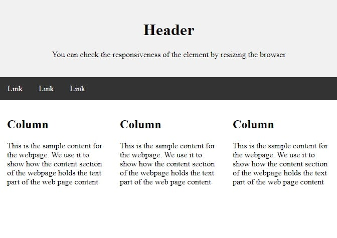 Bootstrap Responsive Webpage Layout